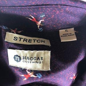 Haggar Shirts - NWT Haggar SS Stretch Button Down XL